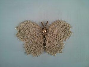 Mariposa de ganchillo